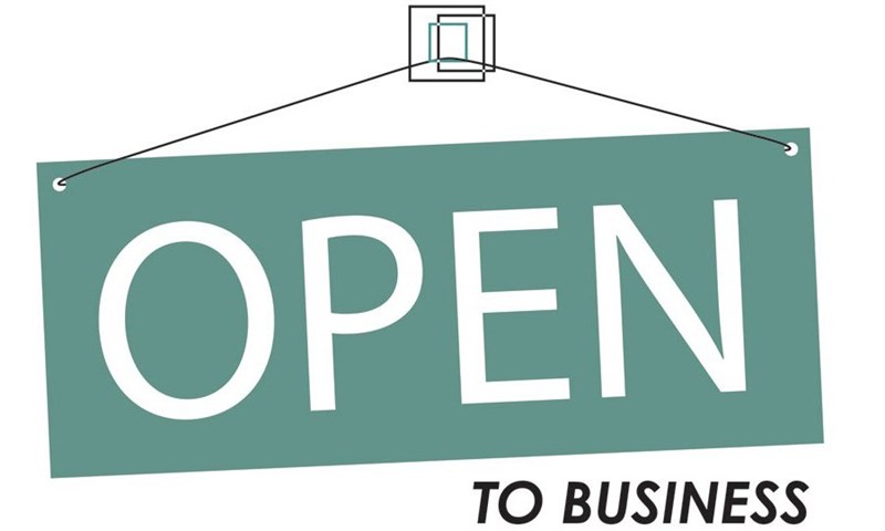 open sign for a business