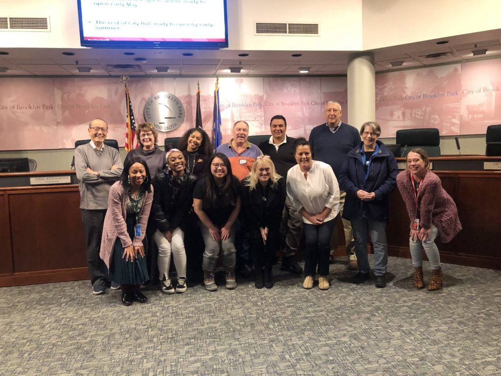 Top Row, From left to right: Nhat Dang, Cyndi Westermann, Asia Benford, Robin Turner, Alejandro Aviña, Joe Klohs Bottom Row, From left to right: Chanté Mitchell, Miyah Taylor, Josie Thao, Councilmember Jacobson, Eileen Ulicsni, Kathleen Malecki, Laura Stigen