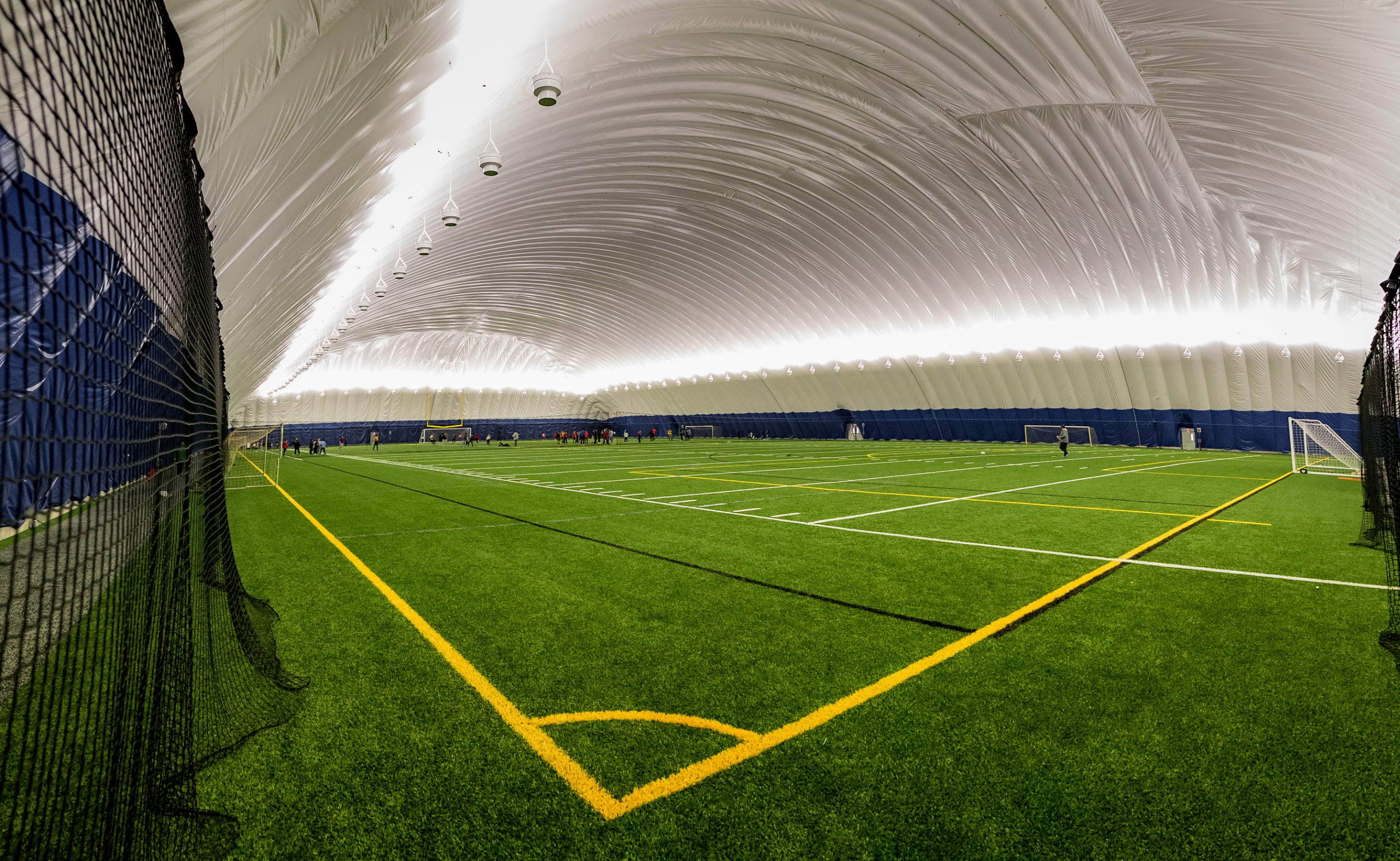 interior of domed athletic field