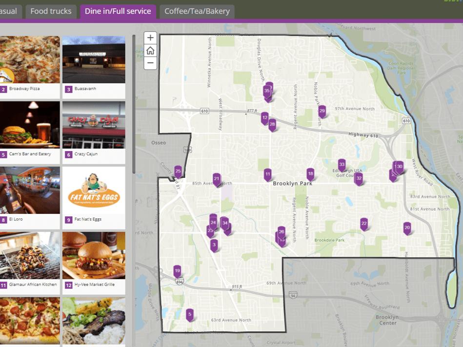 Screenshot of Restaurant Map