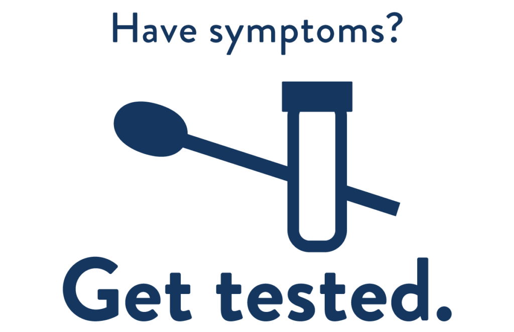 Have symptoms get tested.