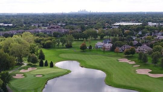 aerial image of Edinburgh usa golf course