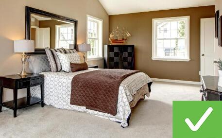 This bedroom is clean.