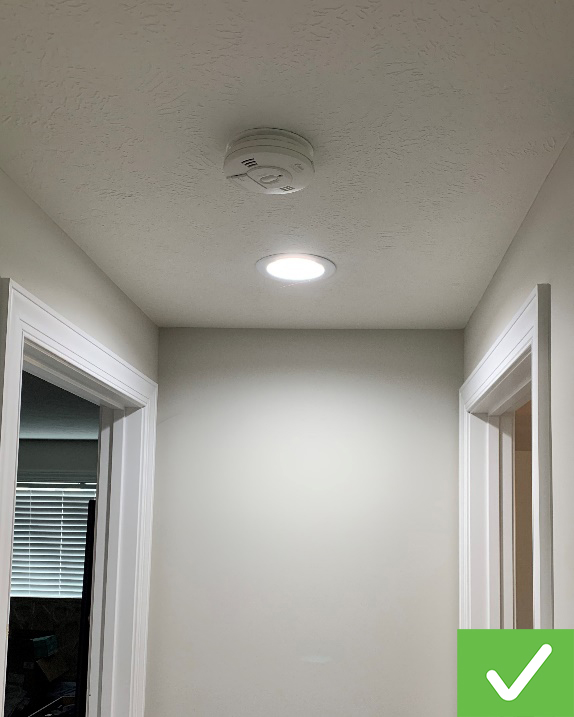 A smoke alarm is required in each bedroom and on every level.